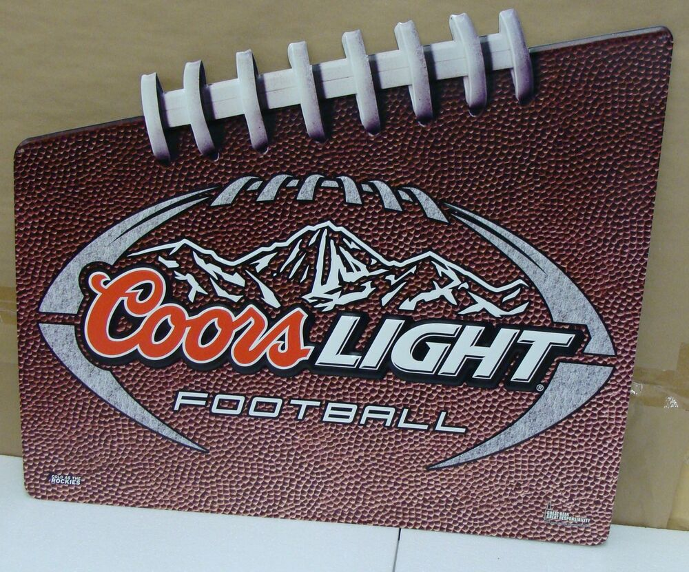 Coors Light Football Embossed 28 Quot X 24 Quot Metal Sign New Ebay