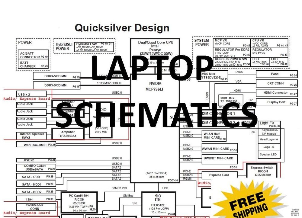 laptop motherboards schematics 5000 pdf 39 s to pick from ebay. Black Bedroom Furniture Sets. Home Design Ideas