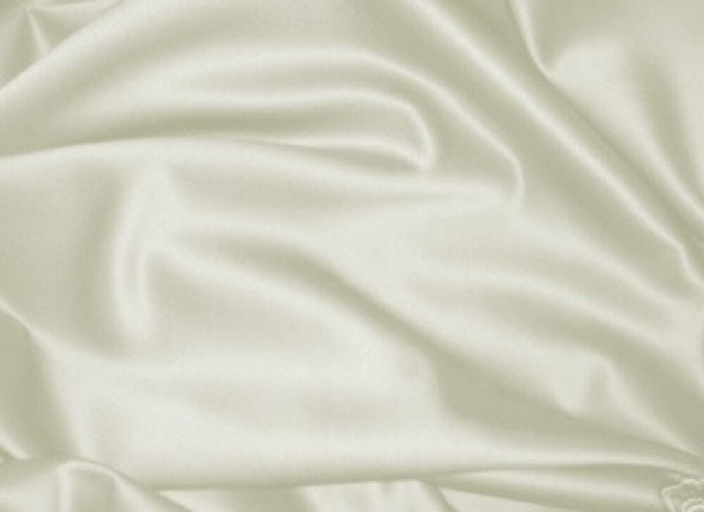 Ivory peau di soie bridal satin fabric 60 10 yard ebay for Satin fabric