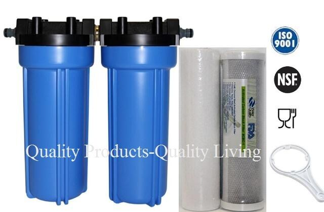 Outdoor camping caravan wholehouse water filter click on for Garden water filter
