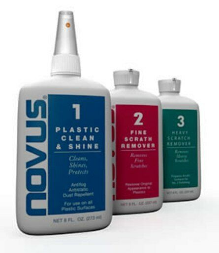 novus plastic acrylic plexiglas cleaner 8oz 3pc kit ebay. Black Bedroom Furniture Sets. Home Design Ideas