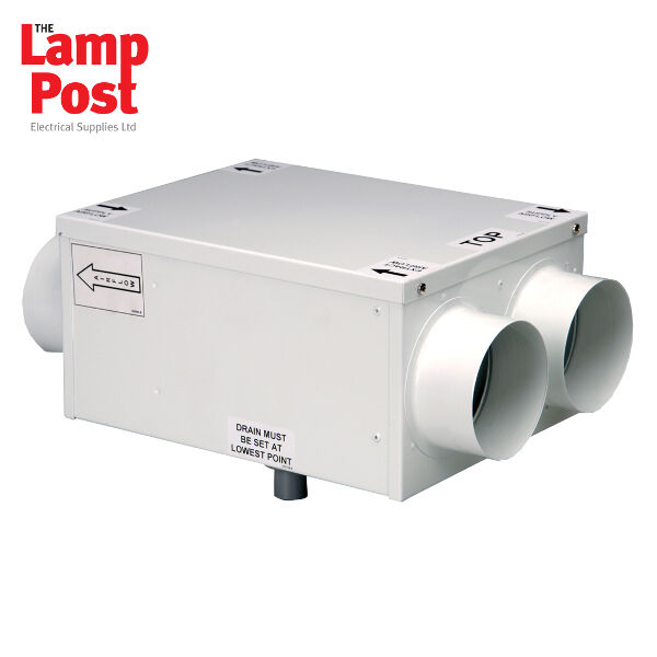 Manrose manhr100r whole house in line heat recovery for Whole house heating systems