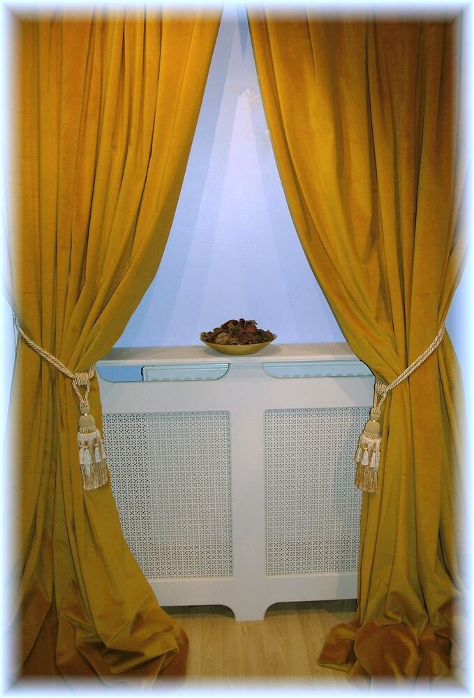 Stunning antique gold velvet curtains all sizes mtm fully bespoke