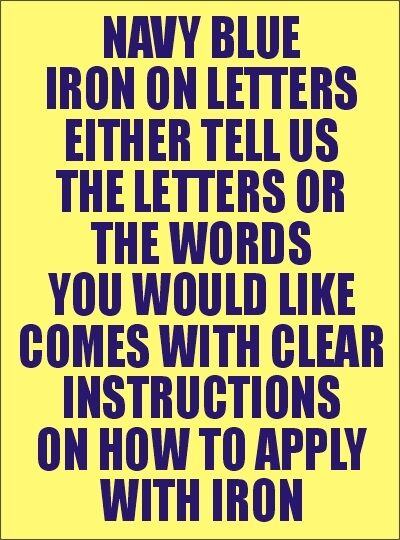 how to iron on letters two inch navy iron on characters letters or numbers 11753 | s l1000