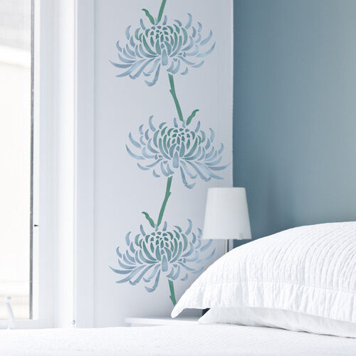 Chrysanthemum Flower Stencil Reusable Wall Stencils For