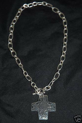 silpada n0557 sterling silver cross pendant necklace