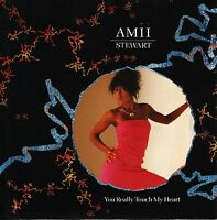 "AMII STEWART you really touch my heart 7"" PS EX/EX"