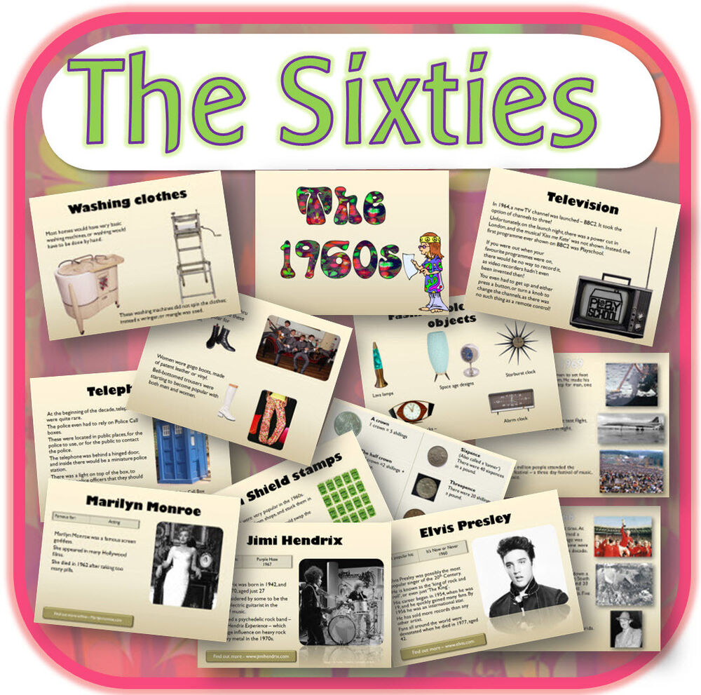 Ks2 Topic 1960s The Sixties Primary Interactive Whiteboard