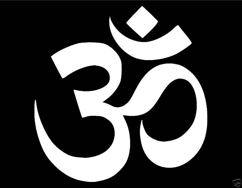 Om Symbol Vinyl Window Decal 4x4 Aum Buddhism Hindu God Yoga