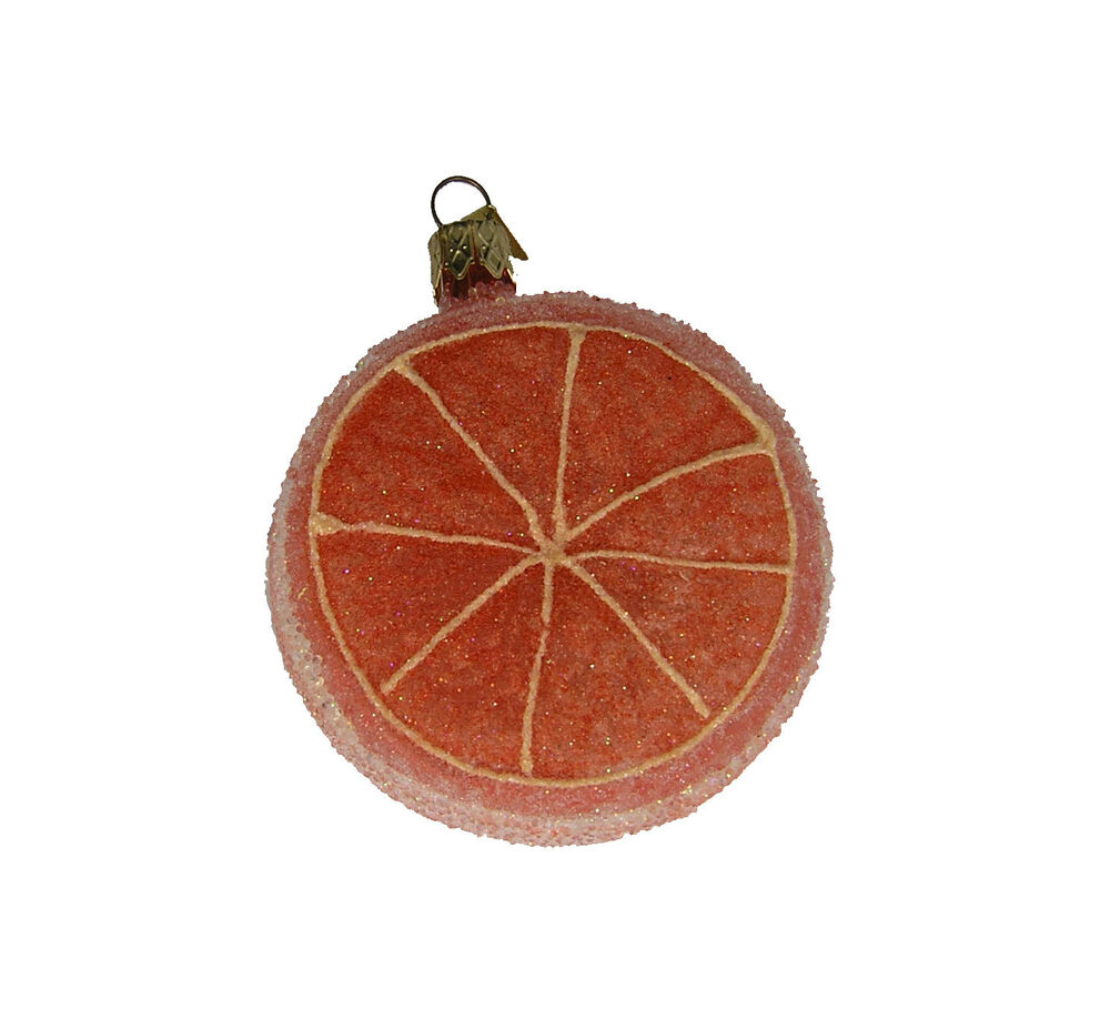 Frosted grapefruit ornament christmas ornament fruit List of christmas ornaments