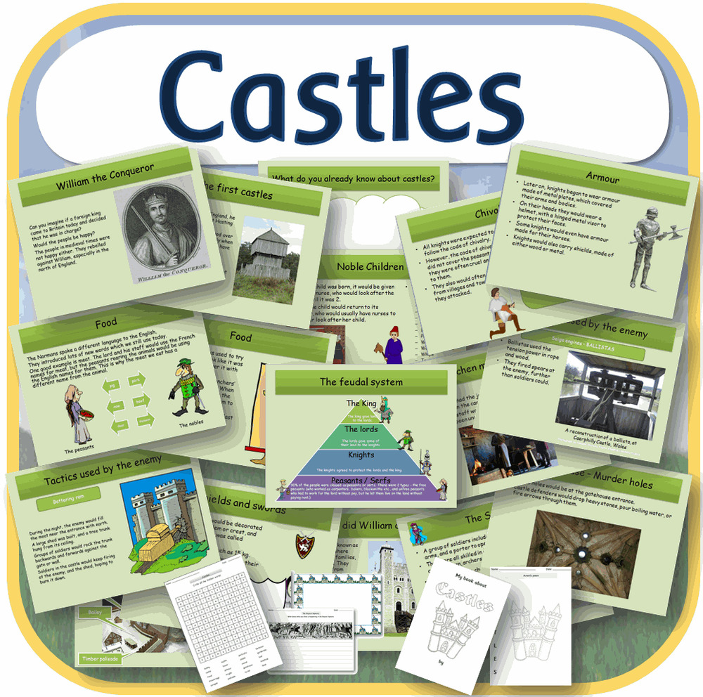 Ks1 Ks2 History Castles The Normans Iwb Worksheets Teaching