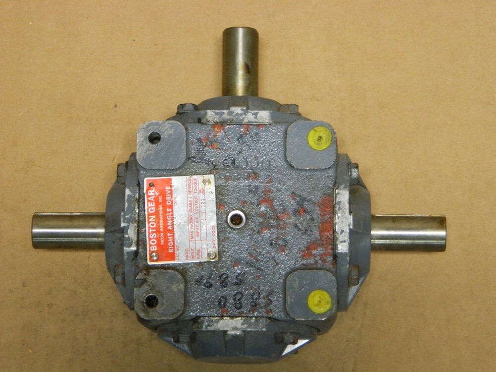 Right Angle Transmission : Boston gear way r type k right angle drive speed
