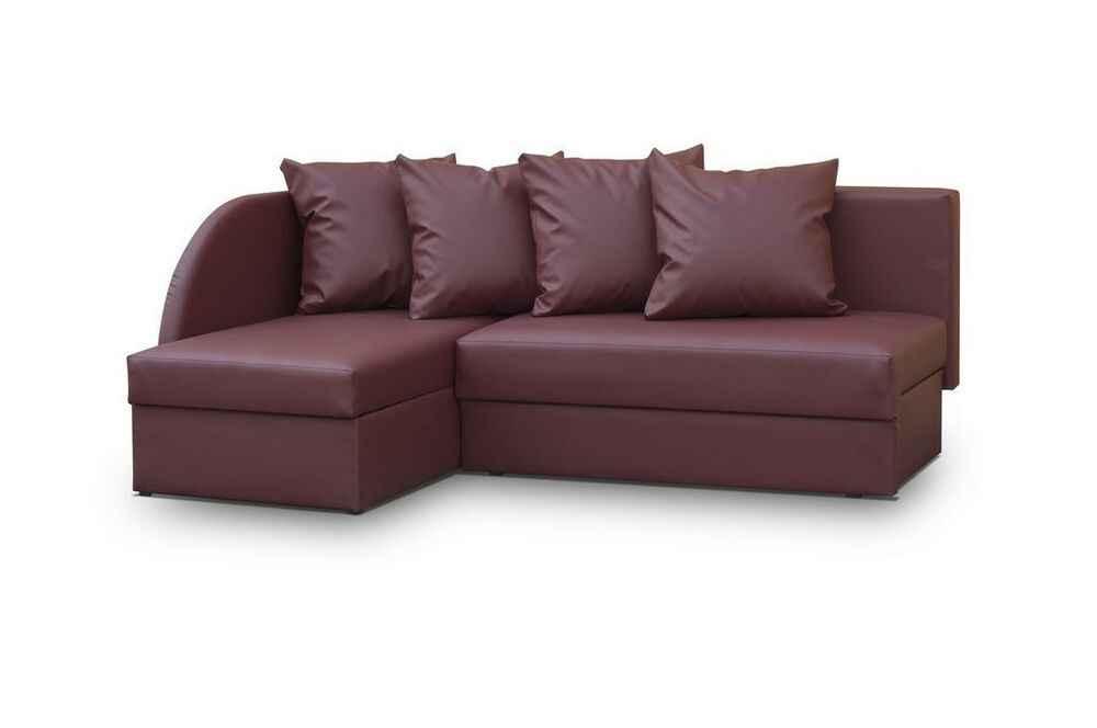faux leather small corner sofa viola any colour sale ebay. Black Bedroom Furniture Sets. Home Design Ideas