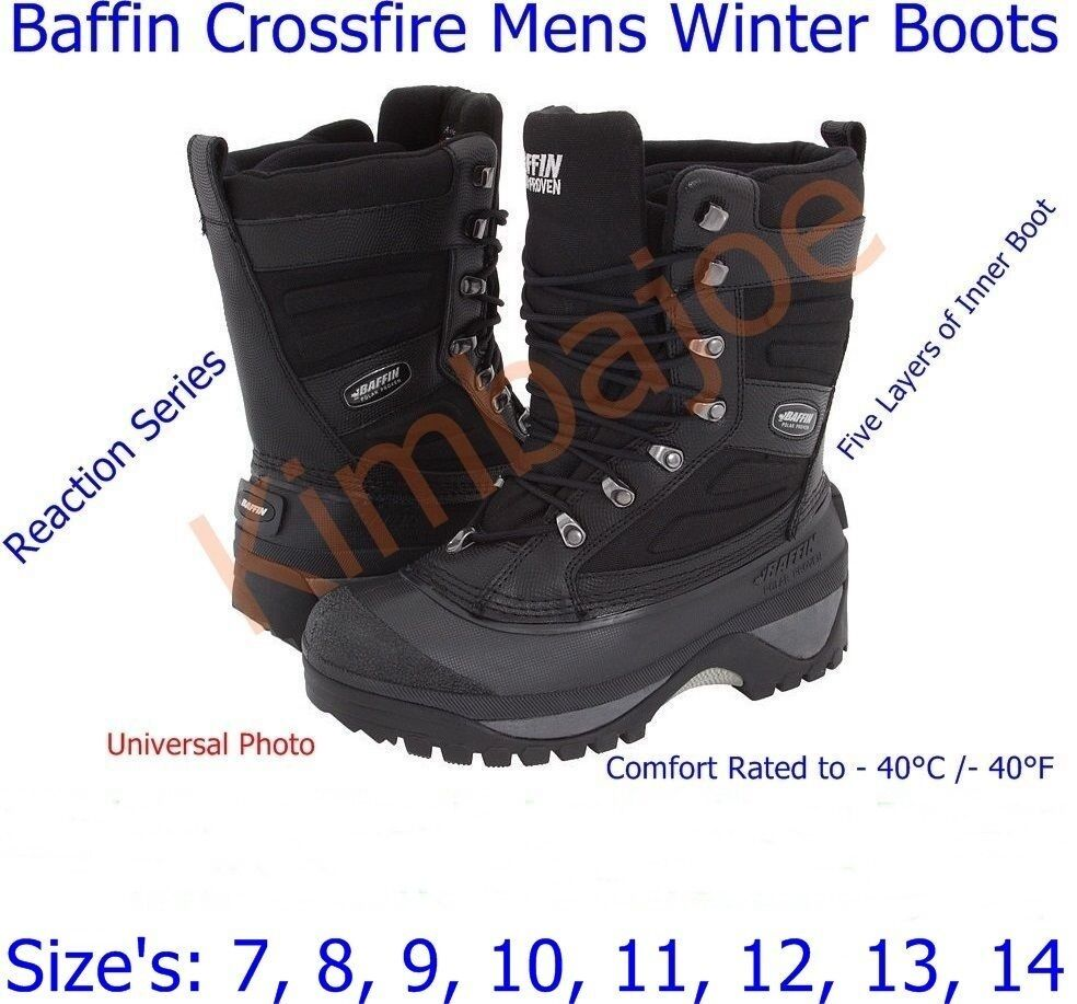 baffin crossfire mens winter boots reaction series sizes