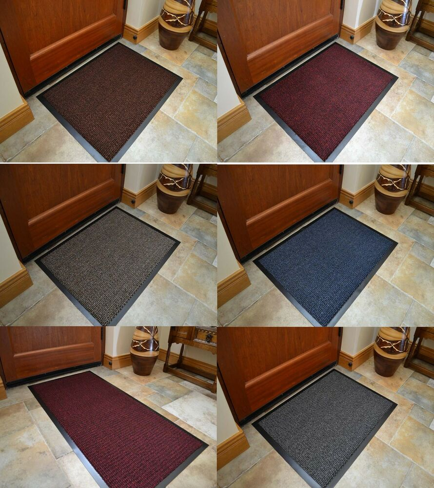 Large small kitchen heavy duty barrier mat non slip rubber for Small rugs for kitchen