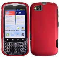 Rubberized Red HARD Case Snap on Phone Cover for Sprint Motorola ADMIRAL