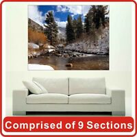 River In Mountain Wall Art Poster Print New