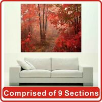 Red Autumn Wall Art Poster Print New