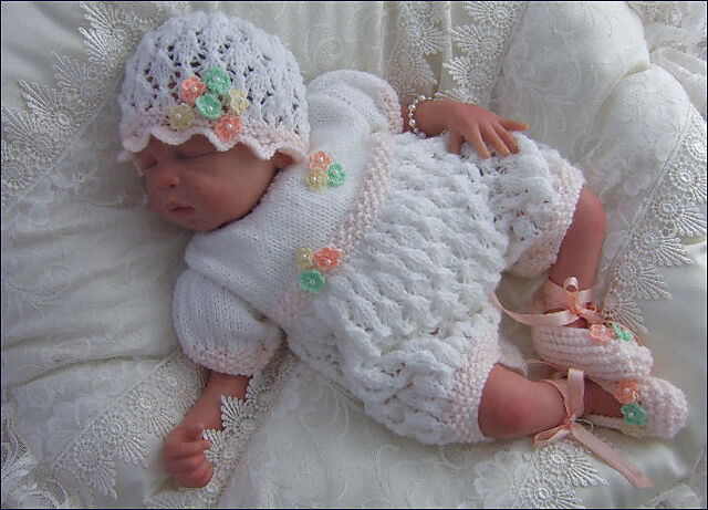 Knitting Pattern For Baby Doll Hat : Baby or Reborn Dolls DK Knitting Pattern 2 TO KNIT Amelia Romper, Hat &a...