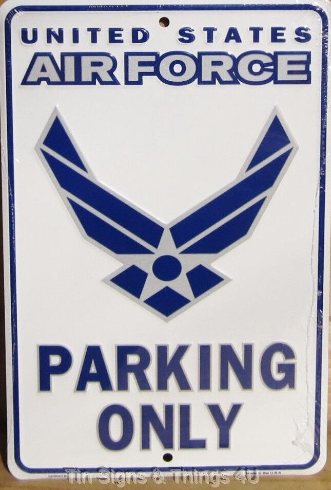 Usaf Wall Decor : Us air force parking only aluminum sign garage wall tin metal decor usaf