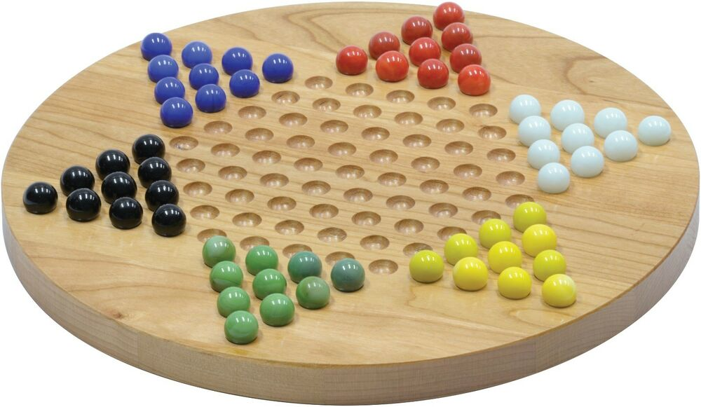 Maple landmark wooden board games chinese checkers ebay for Chinese checkers board template