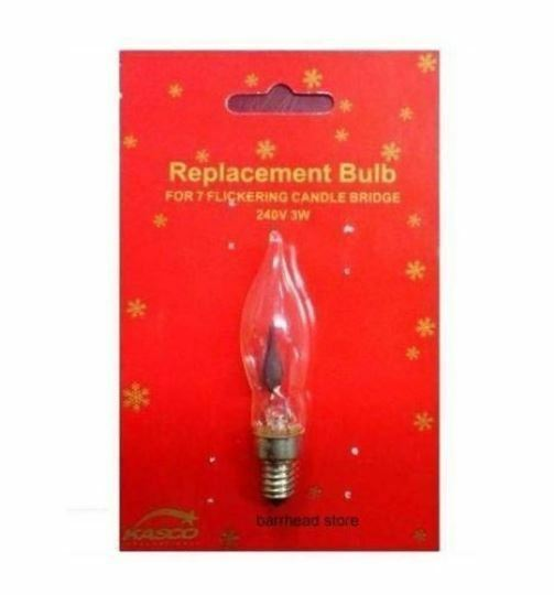 xmas arch bridge candle light replacement spare flickering bulbs 240v 3w e10 ebay. Black Bedroom Furniture Sets. Home Design Ideas