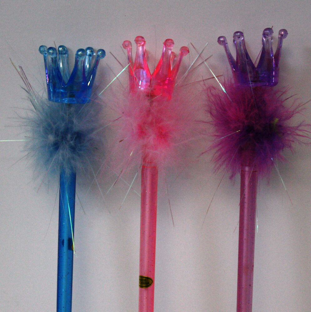 3pc glitter crown pen wand kids toy ebay. Black Bedroom Furniture Sets. Home Design Ideas