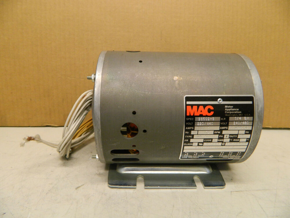 Mac electric motor 1m4 48412 1 4 hp 1 4hp 240 480 v 3 ph for Dc motor 1 3 hp
