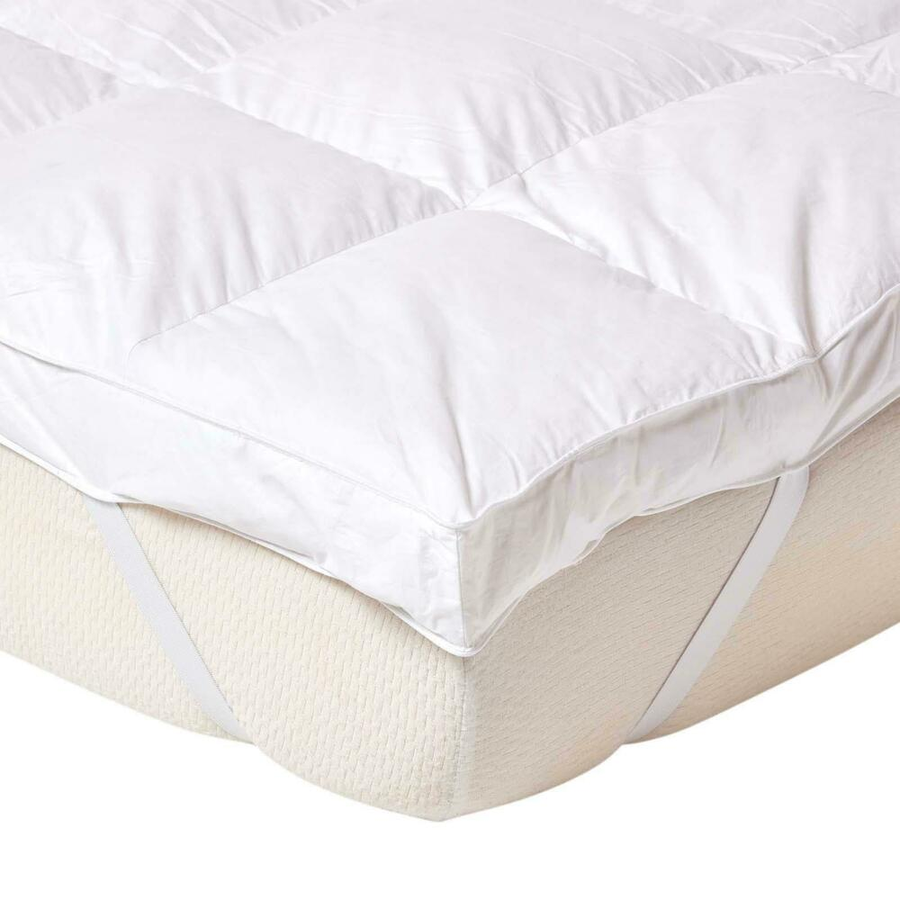 Homescapes Goose Feather Bed Mattress Topper 7cm Thick Ebay