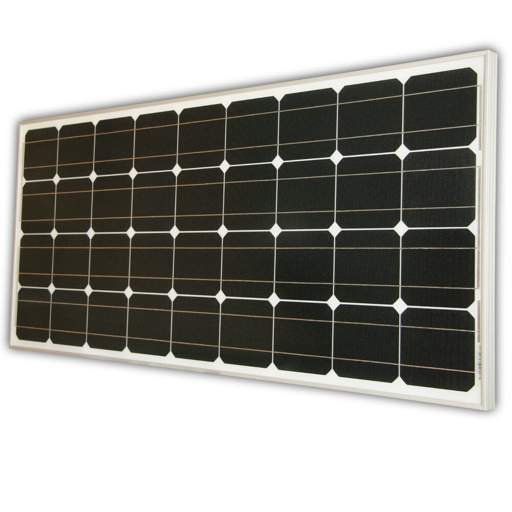 100watt solarpanel solarmodul 12v 12 volt monokristallin solar 100w ebay. Black Bedroom Furniture Sets. Home Design Ideas