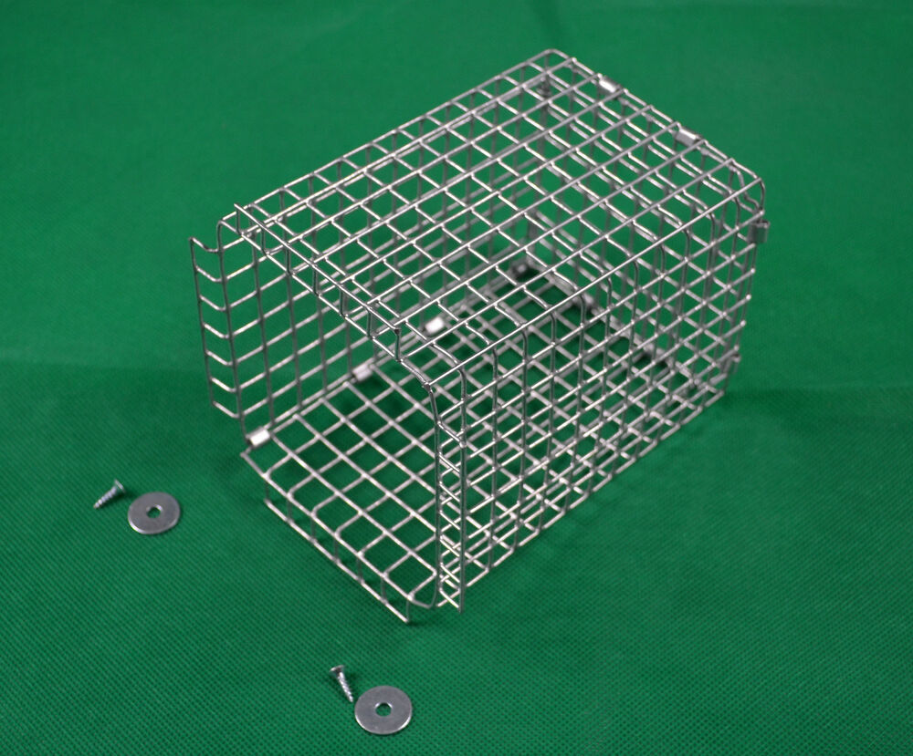 """4x4x6"""" Heat Lamp Light Bulb Guard Cage For Snake Reptile"""