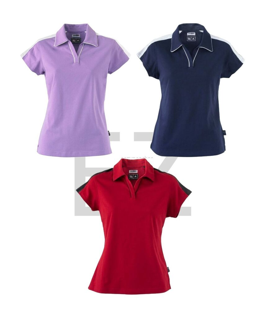 adidas golf new size s 2xl ladies climalite colorblock. Black Bedroom Furniture Sets. Home Design Ideas