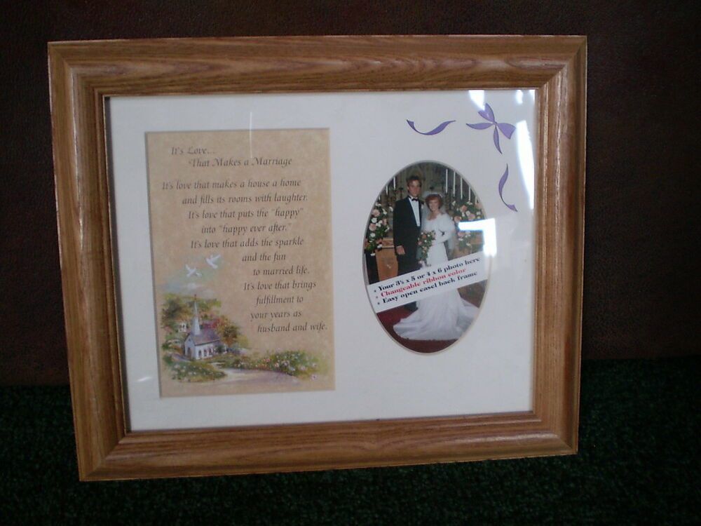 New Wedding Picture Frame W Love That Makes A Marriage