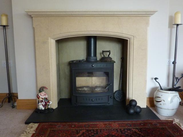 Chester bath stone fireplace fire surround price includes for Stone fireplace hearth prices