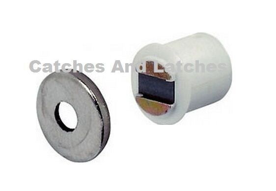 Magnetic Catch Morticed 1 8kg Brown Or White Cabinet