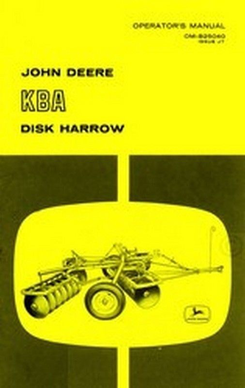 John deere Disc Bine manual