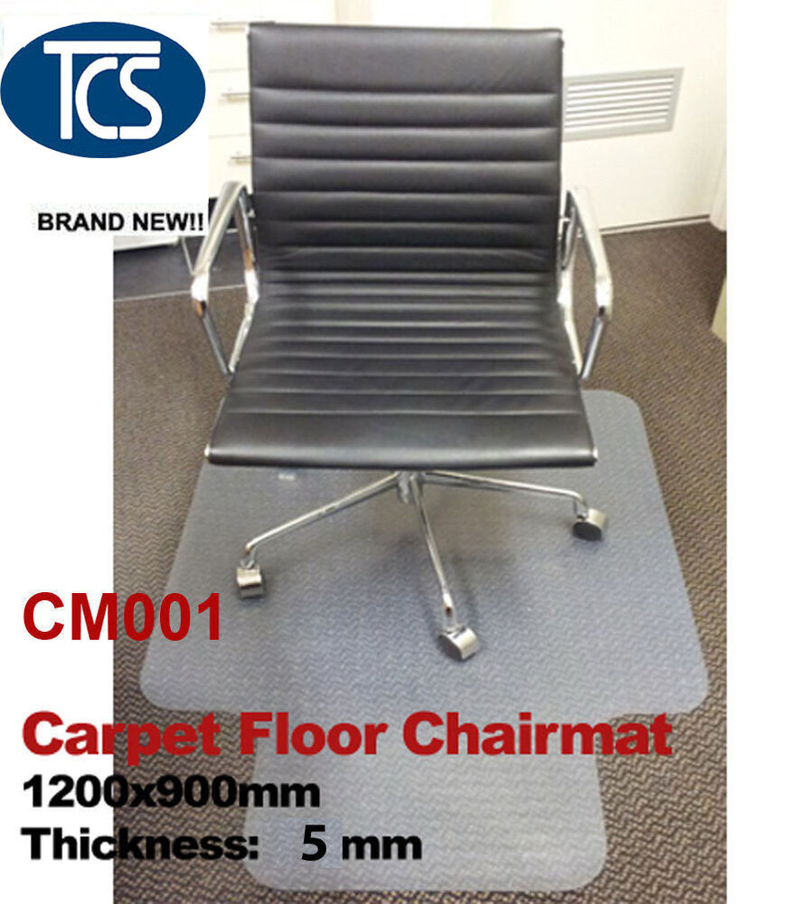 New Carpet Floor Office Work Chair Mat Vinyl Protector 1200 X 900mm Hard Plas