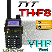 7W High Power Output TYT TH-F8 VHF 136-174Mhz Dual Display radio free earpiece