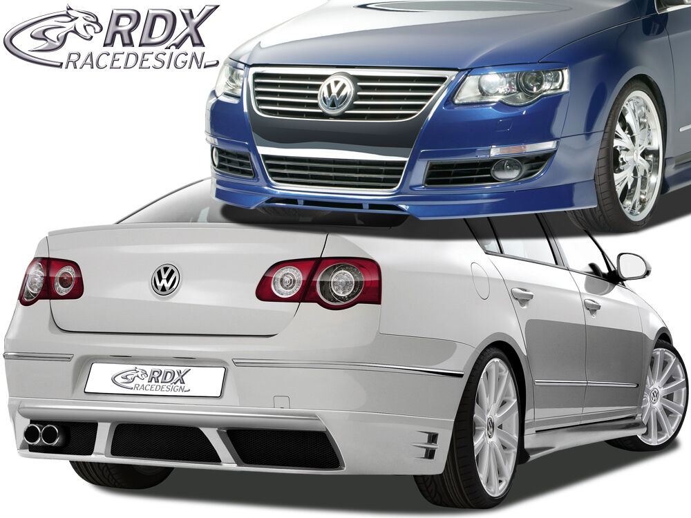 rdx spoiler set vw passat 3c b6 limousine front heck seitenschweller bodykit ebay. Black Bedroom Furniture Sets. Home Design Ideas