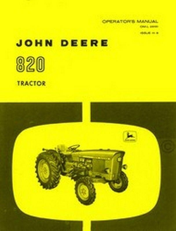 john deere model 820 tractor operators manual jd ebay. Black Bedroom Furniture Sets. Home Design Ideas