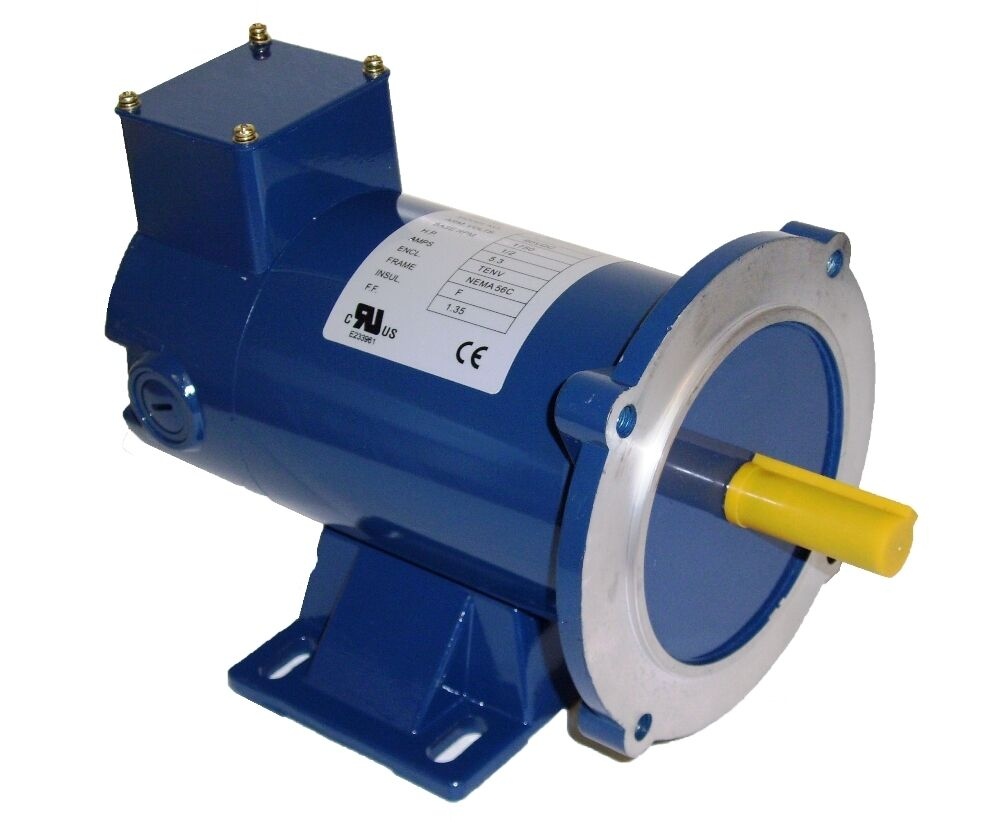 Dc motor 1 2hp 48c 90vdc 1750rpm tenv permanent for What is a permanent magnet motor