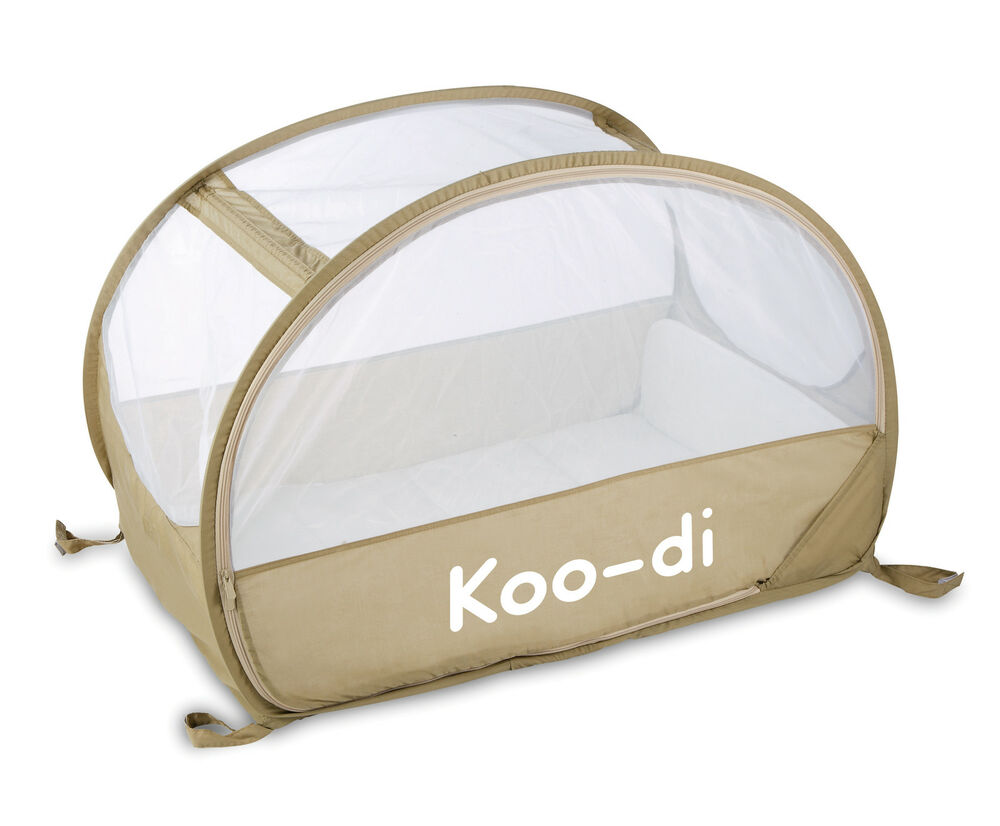 pop up baby travel bubble cot from koo di multiple colours ebay. Black Bedroom Furniture Sets. Home Design Ideas