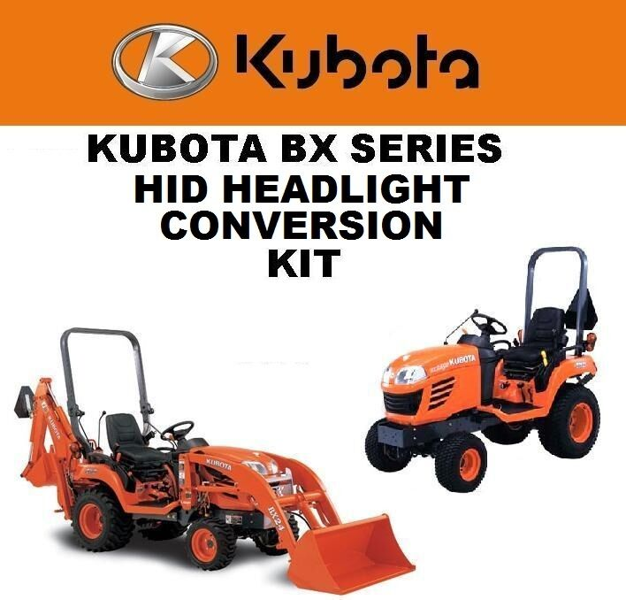 Kubota Tractor Headlight : Kubota bx hid headlight conversion kit super bright