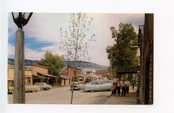 Virginia City MT Street View Barber Pole Vintage Store Fronts Cars ...