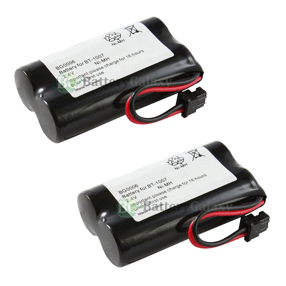 2 new oem bg0006 bg006 cordless home phone rechargeable replacement battery pack ebay. Black Bedroom Furniture Sets. Home Design Ideas