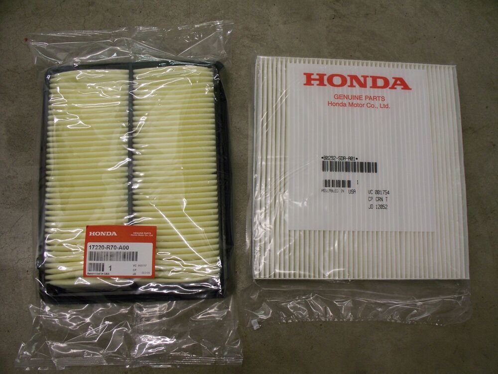 S L on Honda Accord Cabin Air Filter