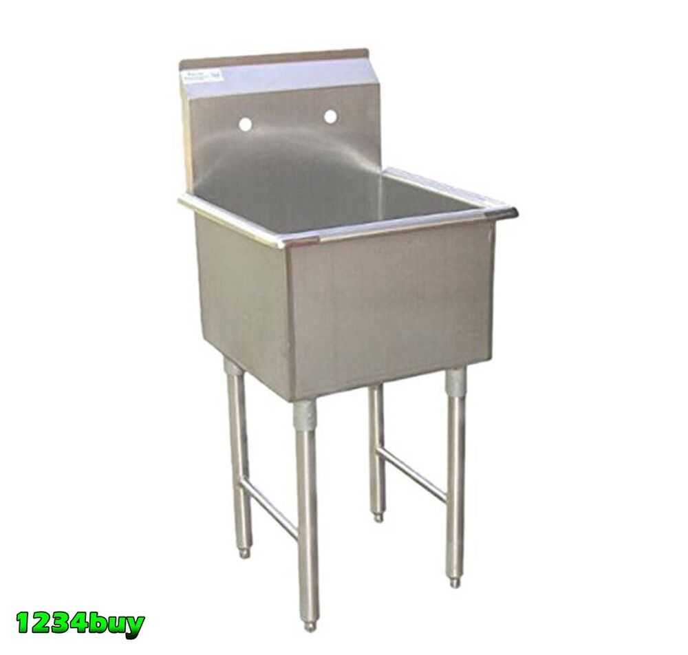 """Industrial Kitchen Equipment Malaysia: 1 Compartment Stainless Steel Utility Prep. Sink 18"""" X 18"""