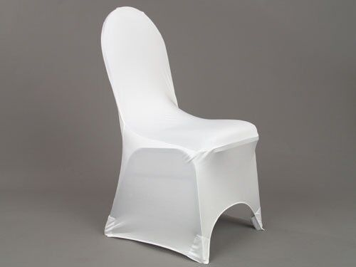 Premium quality spandex chair covers wedding white round for Housse assise de chaise