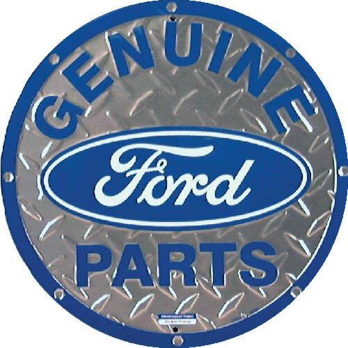 Genuine Ford Parts ROUND SIGN Vintage Logo Metal Wall