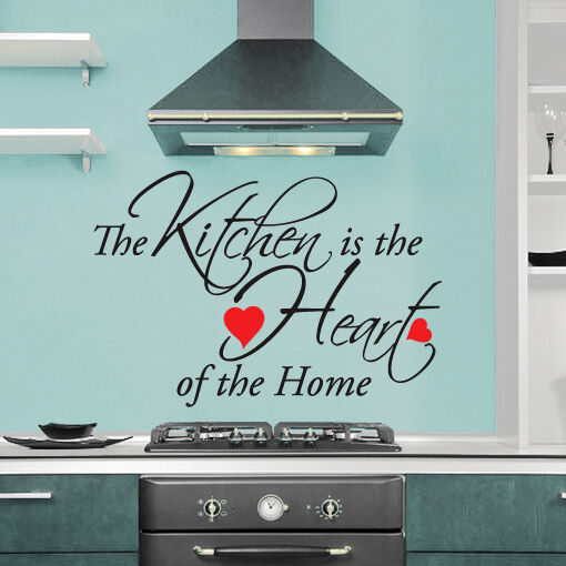 Kitchen Is The Heart Of The Home Quote Wall Art Sticker